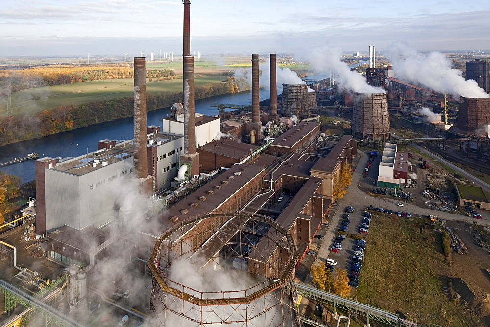 Aerial of Salzgitter Steelworks, Lower Saxony, Germany