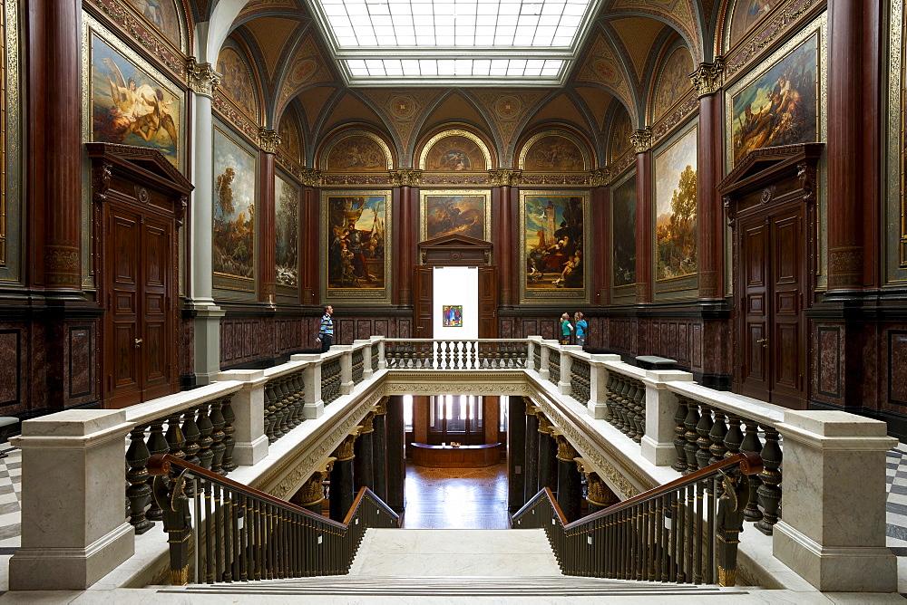 Staircase from 1869, Hamburger Kunsthalle, Hanseatic city of Hamburg, Germany, Europe