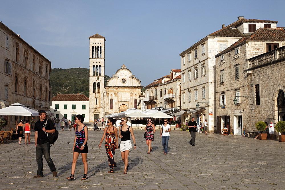 Cathedral of St Stjepan, old town, Hvar Town, Hvar, Split-Dalmatia, Croatia