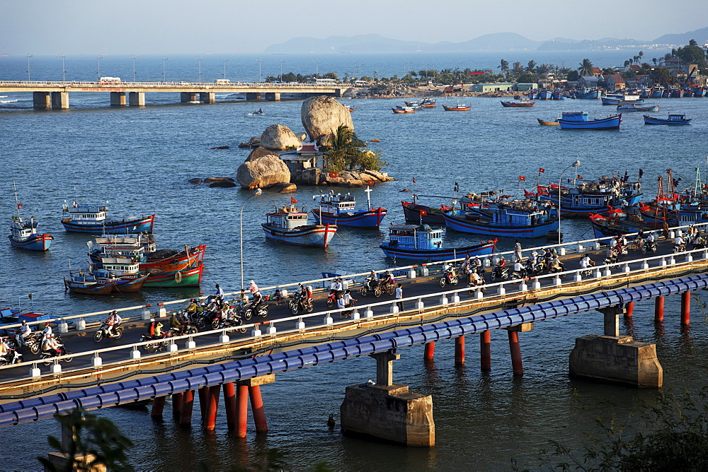 Fishing boats, Xom Bong bridge, Nha Trang, Khanh Ha, Vietnam