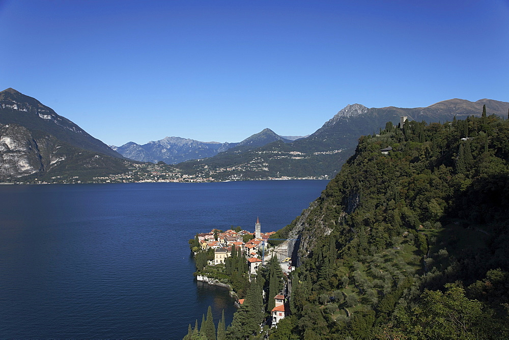 High angle view, Varenna, Lake Como, Lombardy, Italy