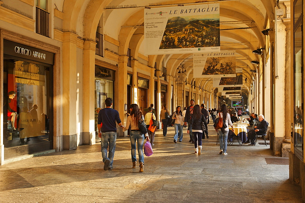 Covered pavement, Piazza San Carlo, Turin, Piedmont, Italy - 1113-41715