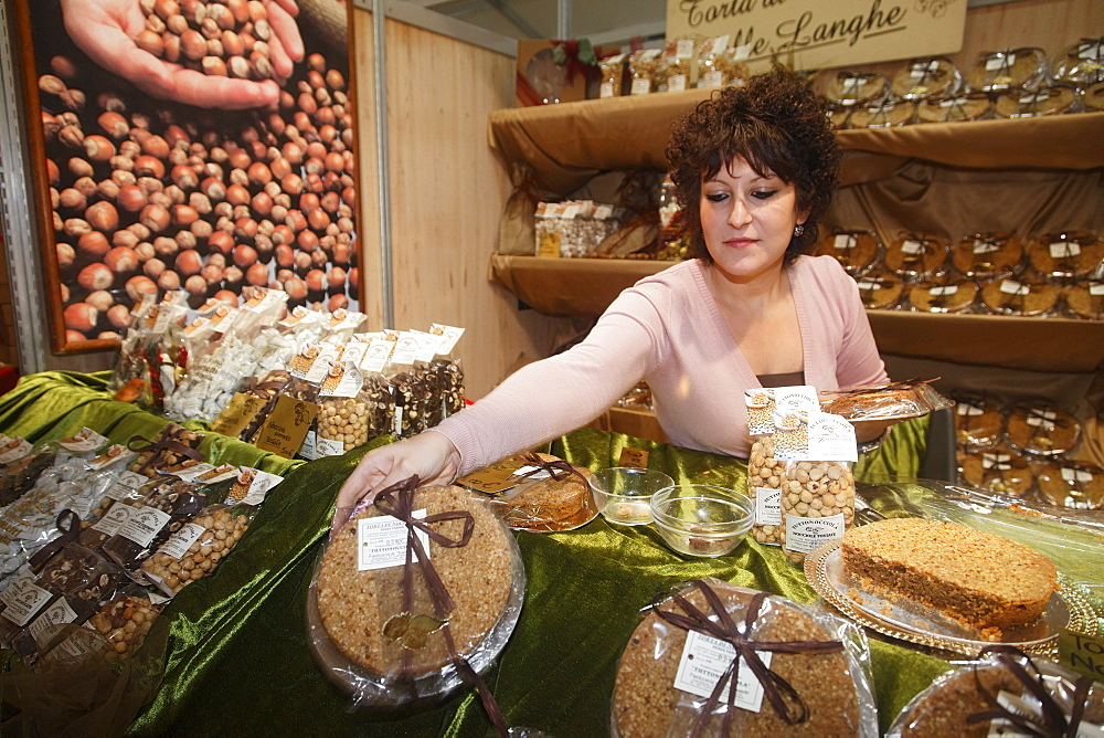 Nutcakes, Sales assistant, Truffle Fair, Alba, Langhe, Piedmont, Italy