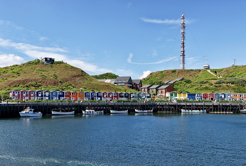 Inland harbour, North Sea Island of Heligoland, Schleswig-Holstein, Germany
