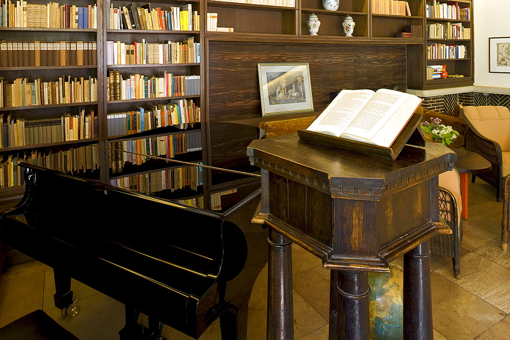 Study at Gerhart-Hauptmann-Haus, Haus Seedorn, Kloster, isle of Hiddensee, Mecklenburg-Western Pomerania, Germany, Europe