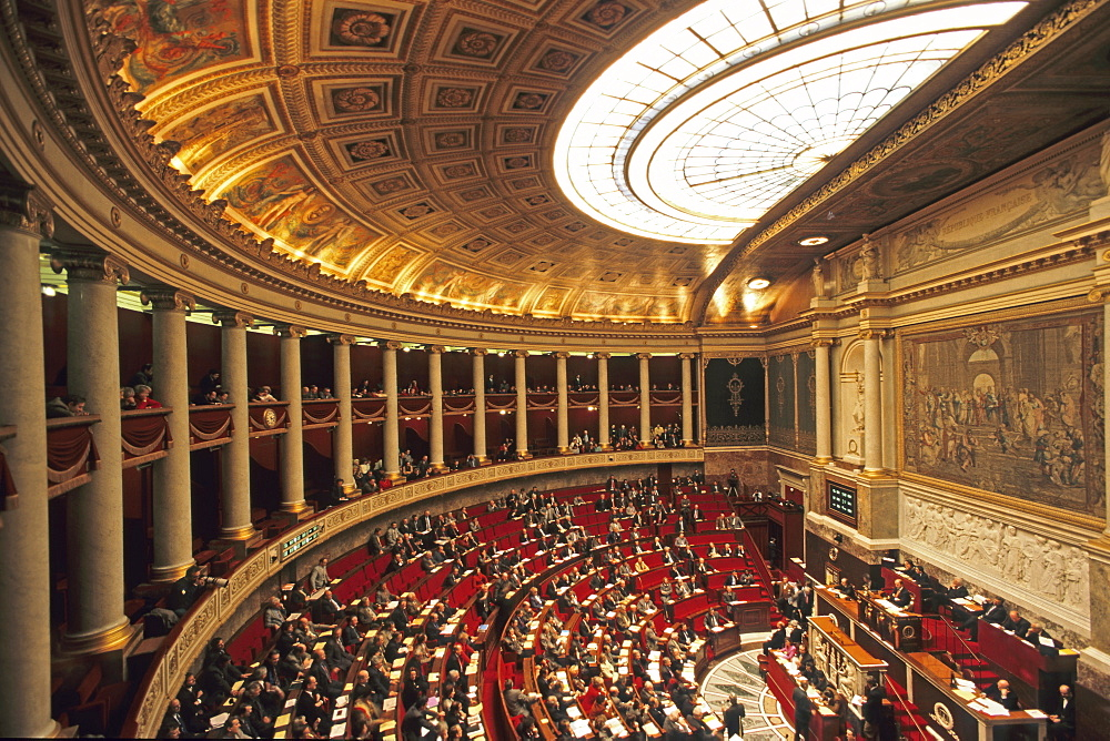 French National Assembly, French Government, Palais Bourbon, 7th Arrondissement, Paris, France