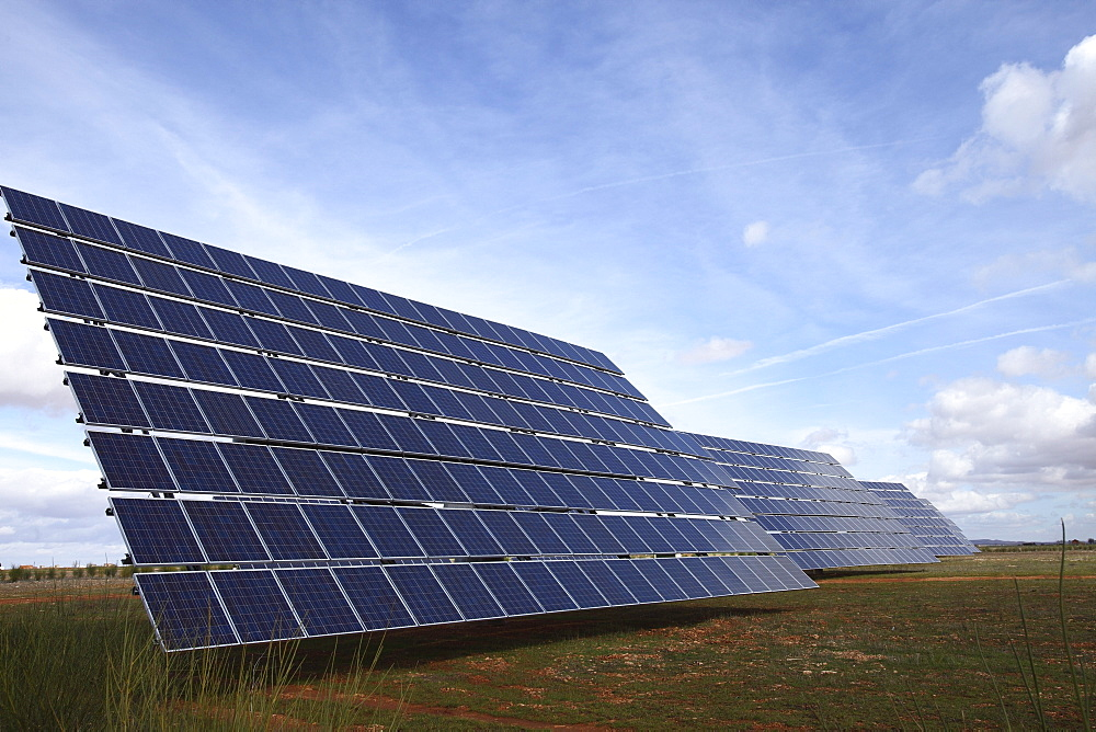 Photovoltaic Plant near Valdepenas, La Mancha, Castilla, Spain