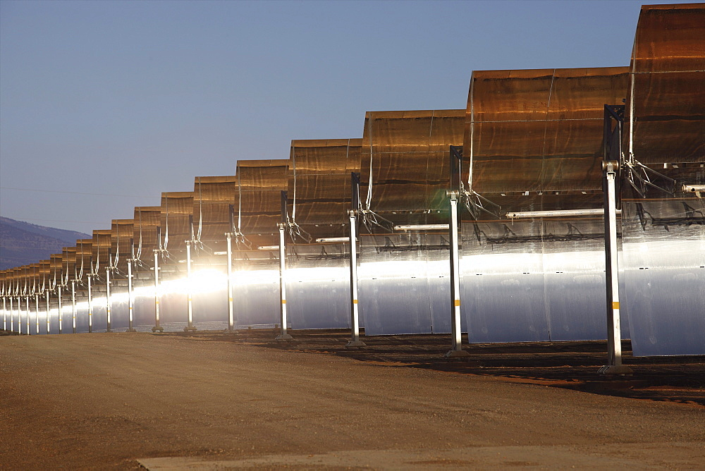Andasol 1, the first solar parabolic trough power plant in Europe near Guadix, Calahorra, Granada, Andalusia, Spain - 1113-44259