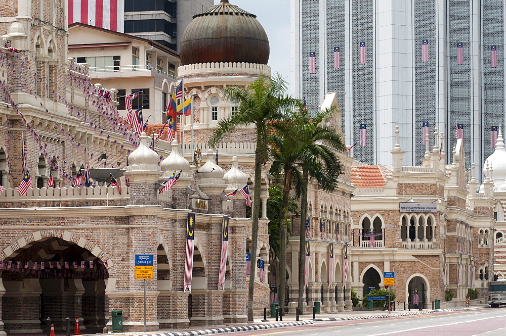 View from Merdeka Square to Sultan Abdul Samad Building, Kuala Lumpur, Malaysia, Asia