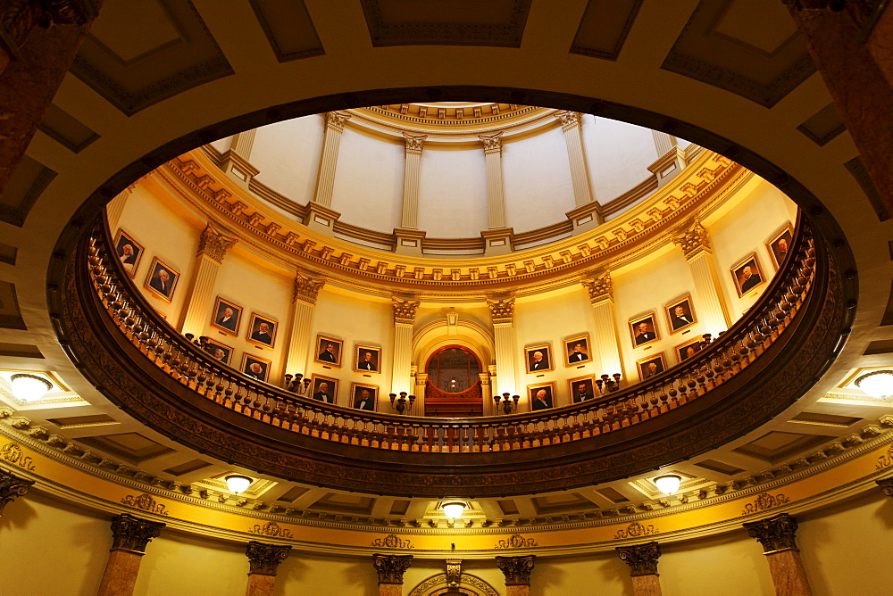 Gallery of the presidents of the USA, Capitol, architect Elijah E. Myers, 200 East Colfax Avenue, Denver, Colorado, USA, North