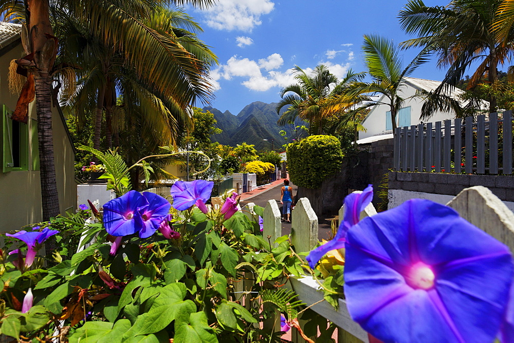 Entre-Deux is one of the most beautiful creole villages of La Reunion, Indian Ocean