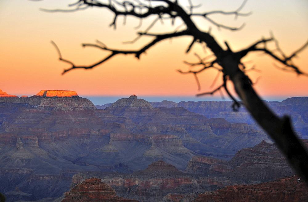 Sunset at South Rim, Grand Canyon, Arizona, southwest USA, America