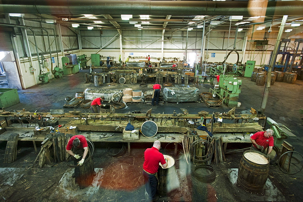 barrel maker at Speyside Cooperage, Craigellachie, Aberdeenshire, Scotland