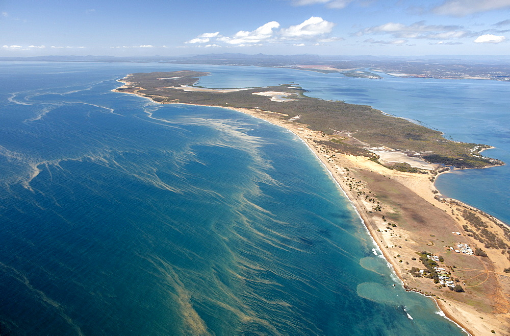 Gladstone peninsula during the coral spawning period, aerial photo, Gladstone, Queensland, Australia