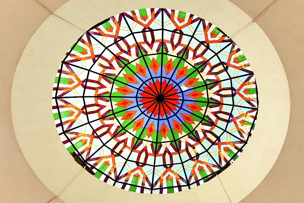 Oman Muscat Mutrah Roof with glas ornaments