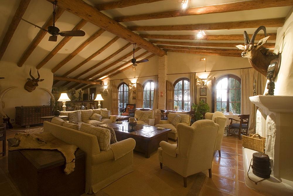 Lounge at La Reserva Rotana Finca Hotel Rural, Near Manacor, Mallorca, Balearic Islands, Spain