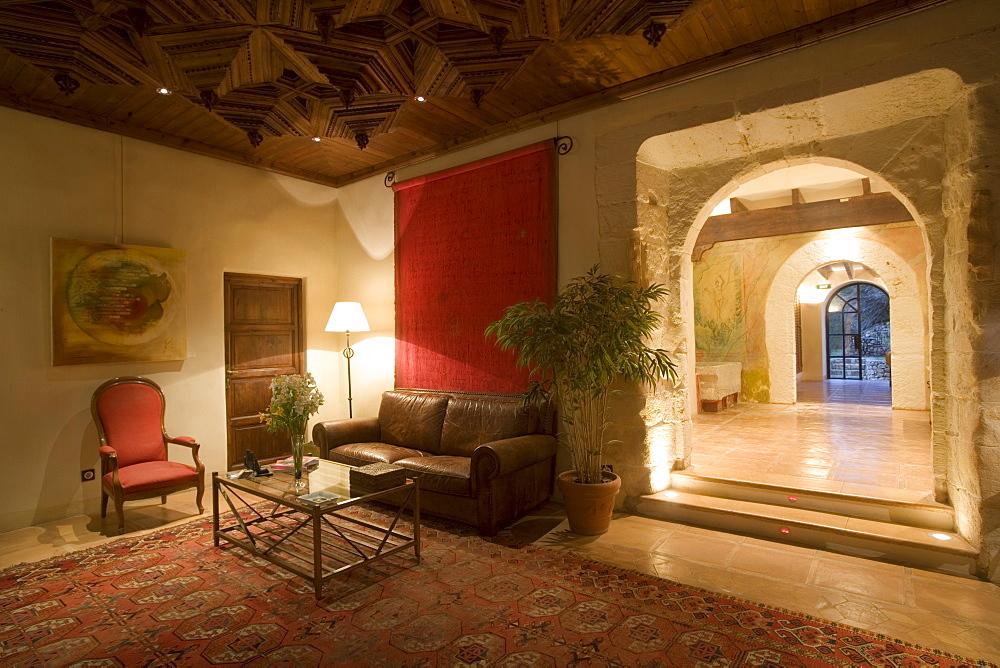 Lobby Lounge at La Reserva Rotana Finca Hotel Rural, Near Manacor, Mallorca, Balearic Islands, Spain