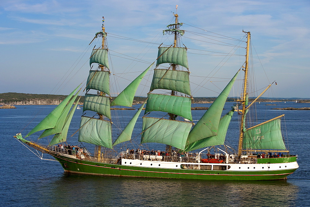 Sailing ship Alexander von Humboldt, near Gothenburg, Vaster-Gotaland, Sweden