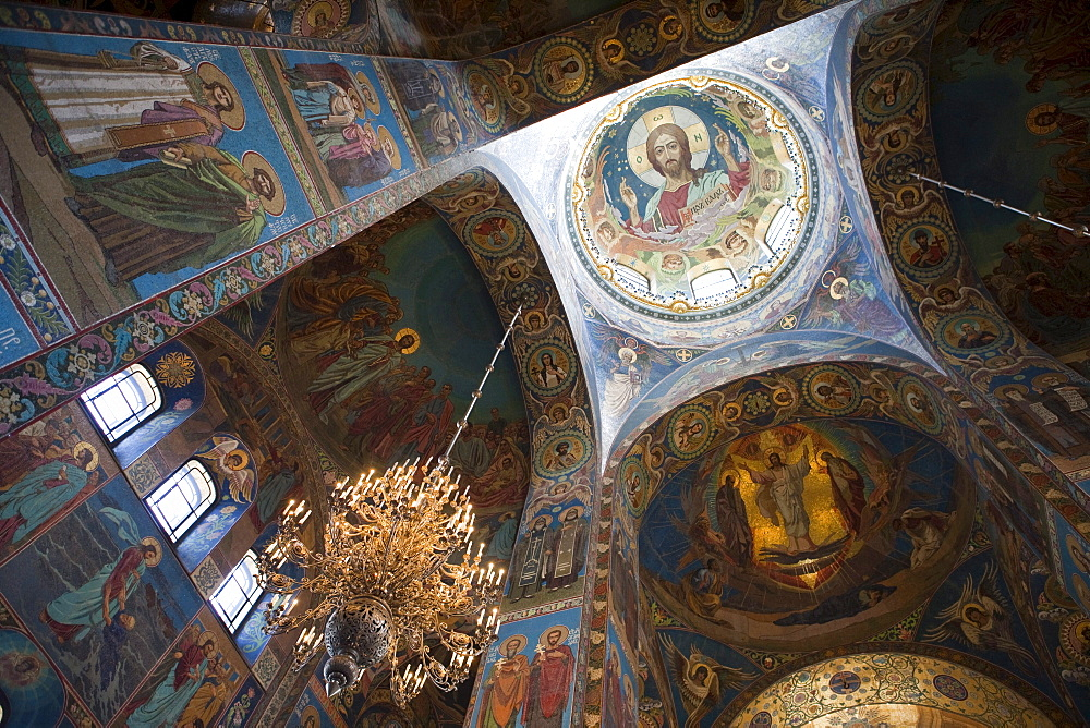 Interior of Church of the Savior on Spilled Blood (Church of the Resurrection), St. Petersburg, Russia