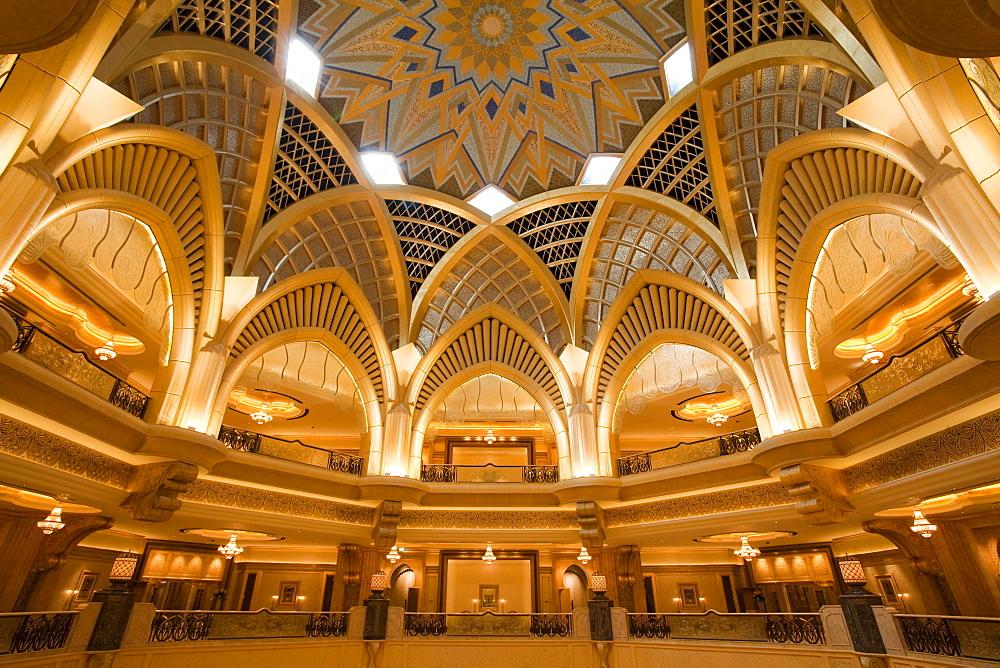 Atrium of Emirates Palace hotel, Abu Dhabi, United Arab Emirates