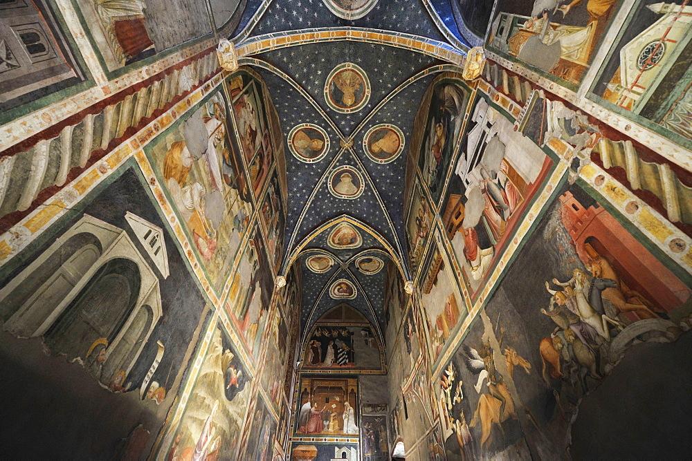 Fresco inside of St. Johannis chapel of the Dominican monastery, Bolzano, South Tyrol, Alto Adige, Italy, Europe
