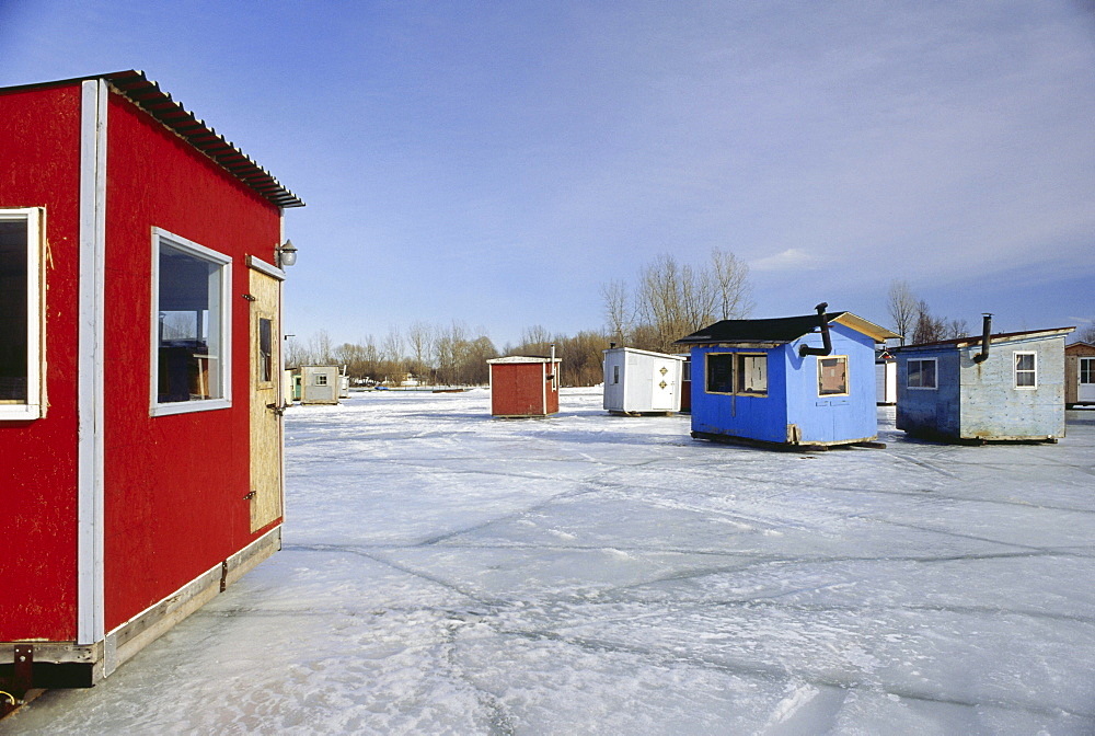 High quality stock photos of canada for Ice fishing cabins alberta