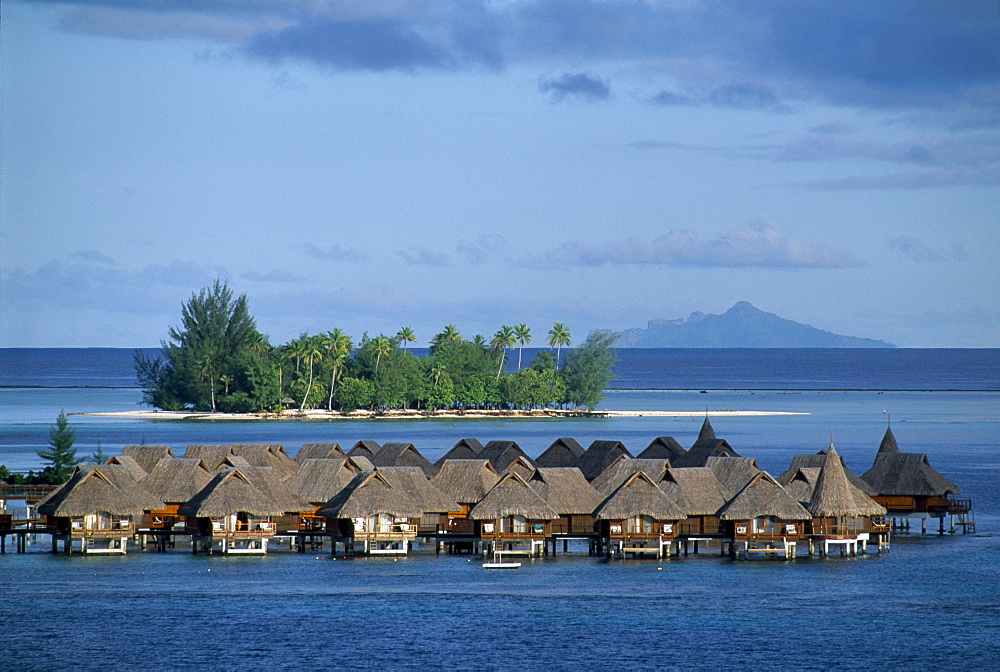 Overwater bungalows at Lagoon Resort, Bora Bora, French Polynesia