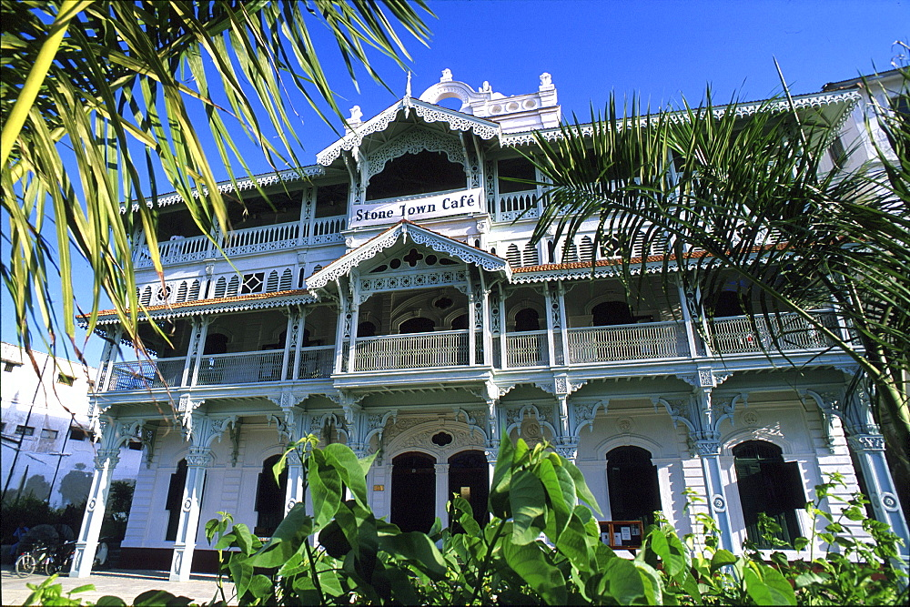Old mansion in the Old Town, Zanzibar city, Zanzibar, Tanzania, Africa