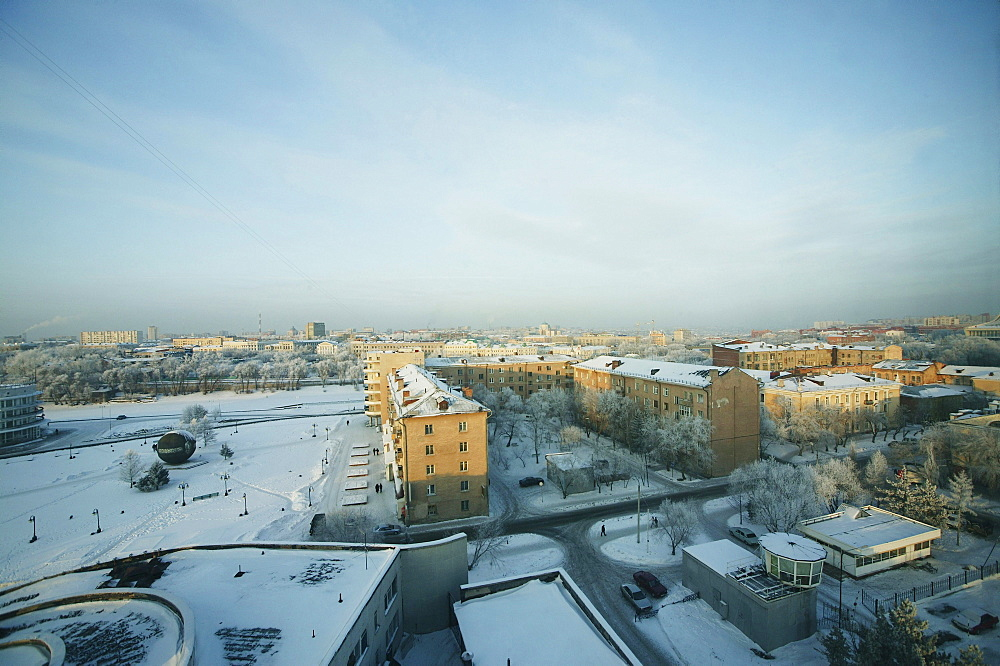 View over the town, Omsk, Siberia