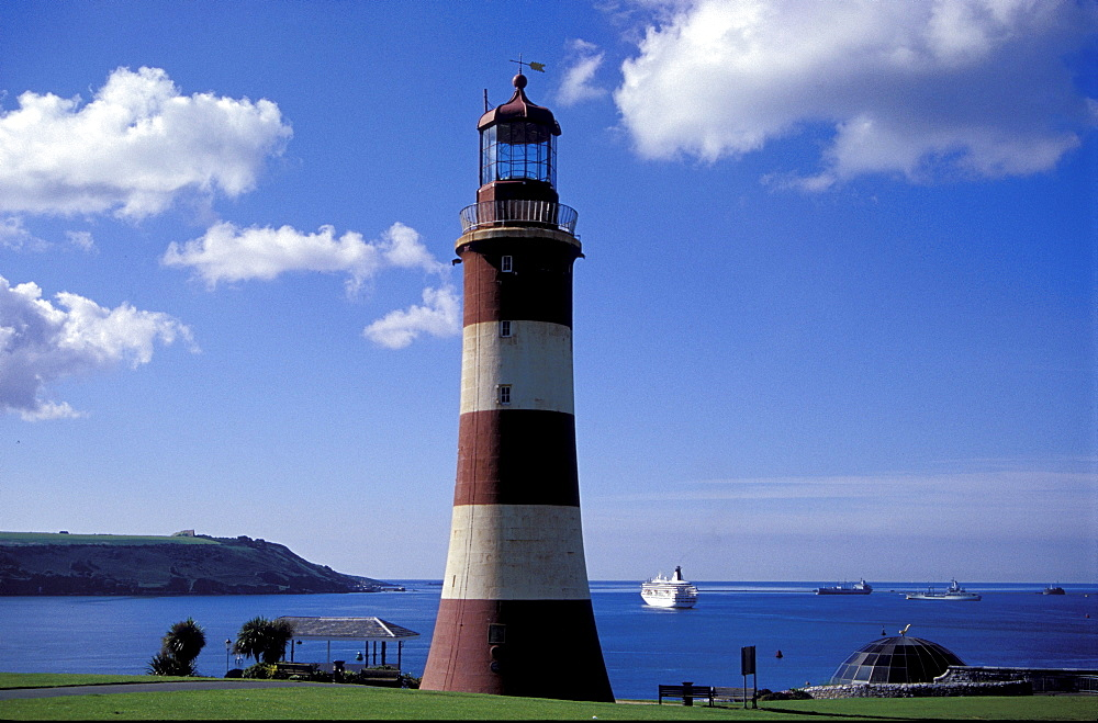 Lighthouse The Hoe, Cornwall, Plymouth, The Hoe, Europe, England