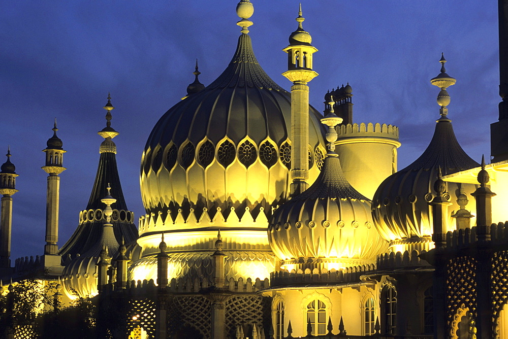 Royal Pavilion at Night, Brighton, East Sussex England