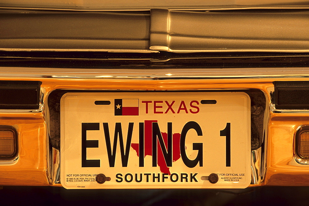 Ewing 1 License Plate, Dallas, Texas USA - 1113-52098