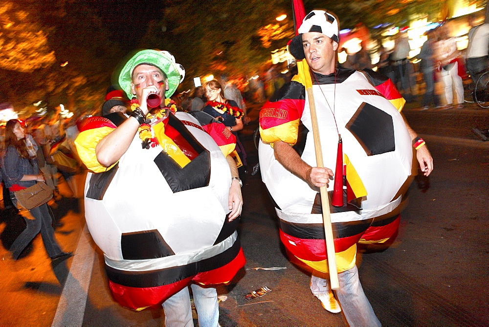 German Football Fans celebrate on the Kurfuerstendamm, Berlin, Germany - 1113-5215