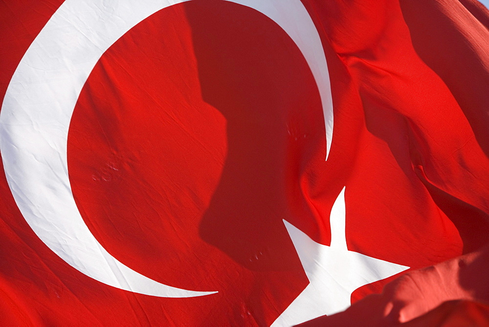 Turkish Flag, Bodrum, Turkish Aegean, Turkey