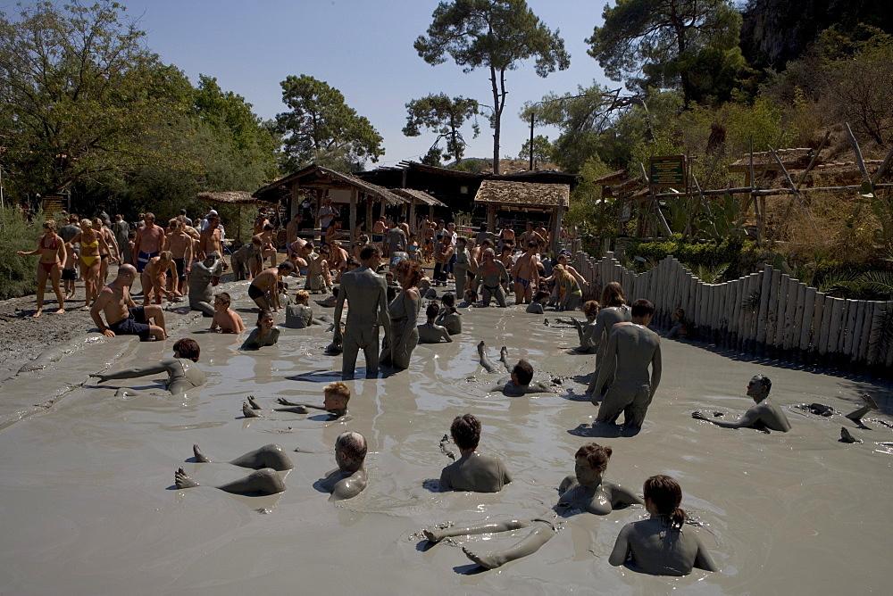 Mud Bath Relaxation, Dalyan River Mud Baths, Dalyan River, Turkish Aegean, Turkey