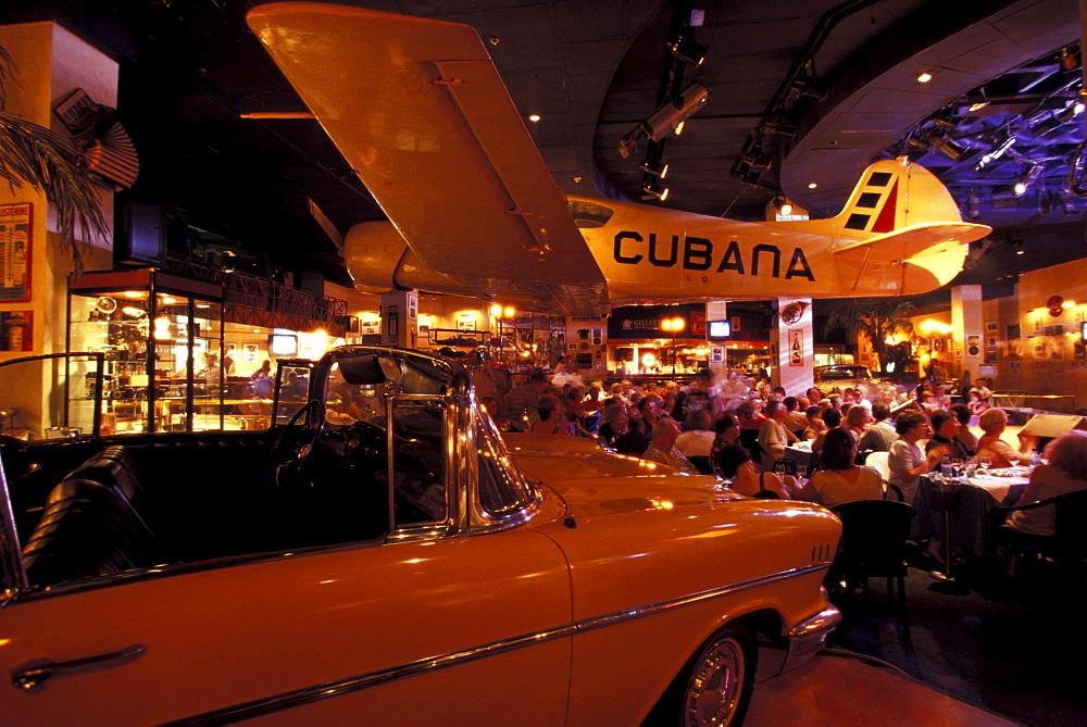 Interior view of the Havana Cafe, Havana, Cuba, Caribbean, America