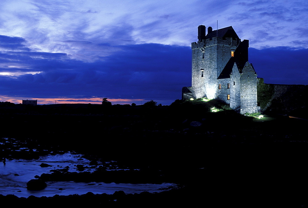 Dunguaire Castle at night, Co. Galway, Ireland