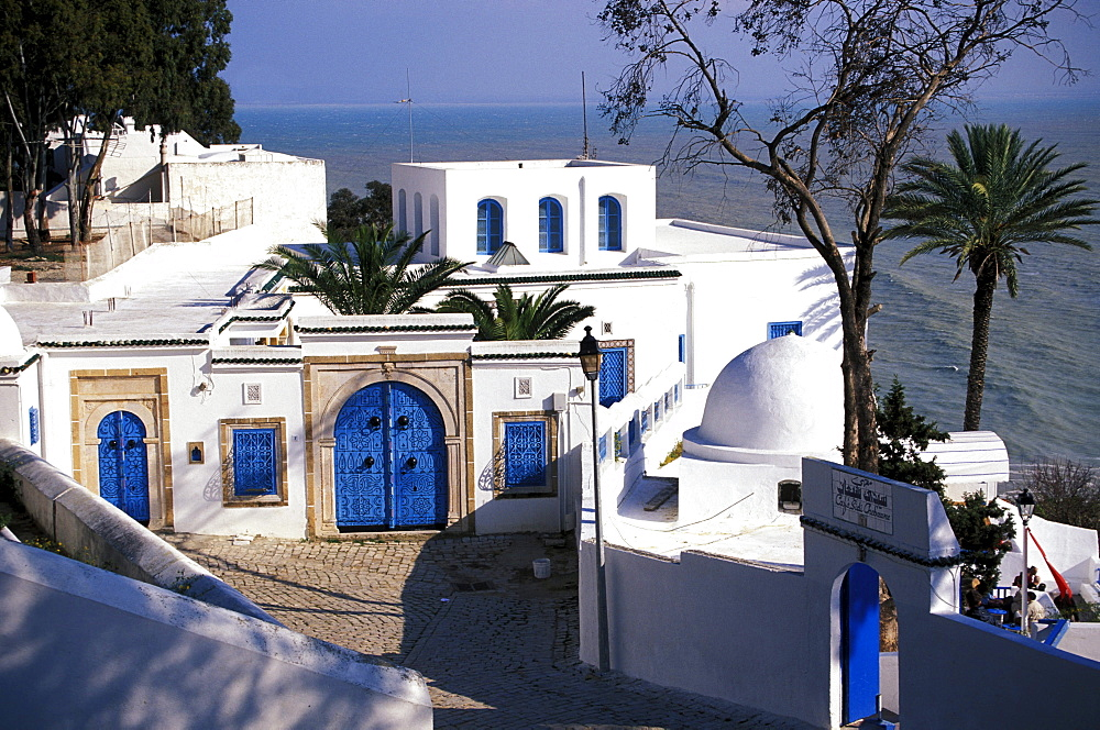 Small town along the coast, Sidi Bou Said, Tunesia