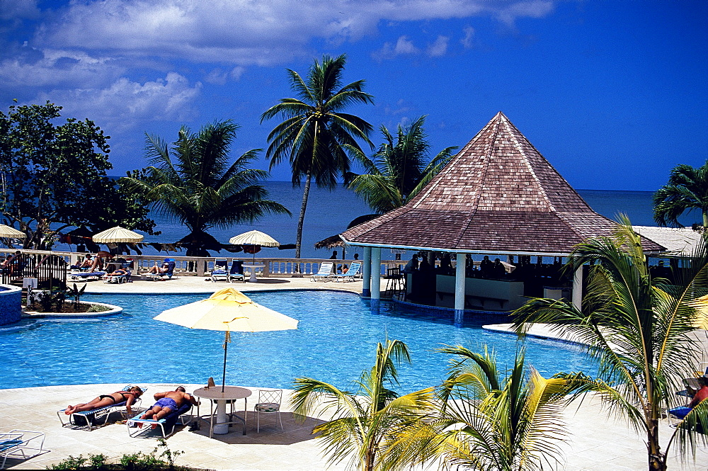 Pool area, Turtle Beach Hotel, Trinidad and Tobago, Caribbean