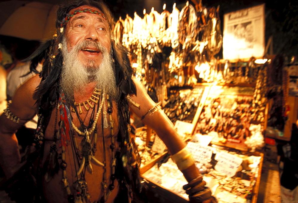 AndrÈs Romero, Hippy market, La Marina, Ibiza, Balearic Islands, Spain