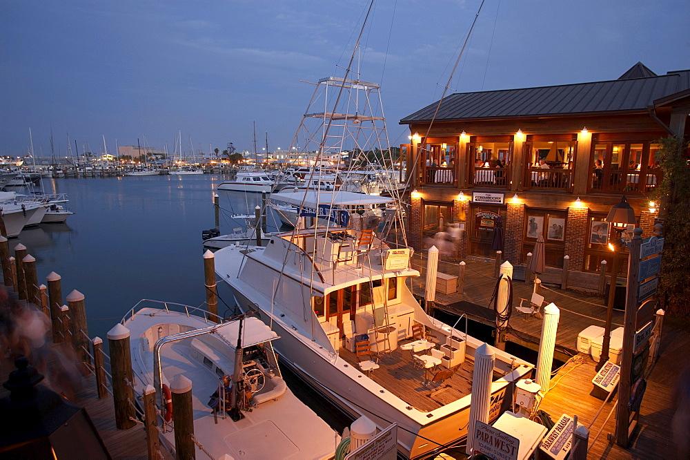 Deep sea fishing boats in harbor, Key West, Florida, USA