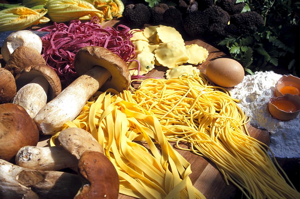Italian pasta, Salo, Lake Garda, Lago di Garda, Trentino, Italy