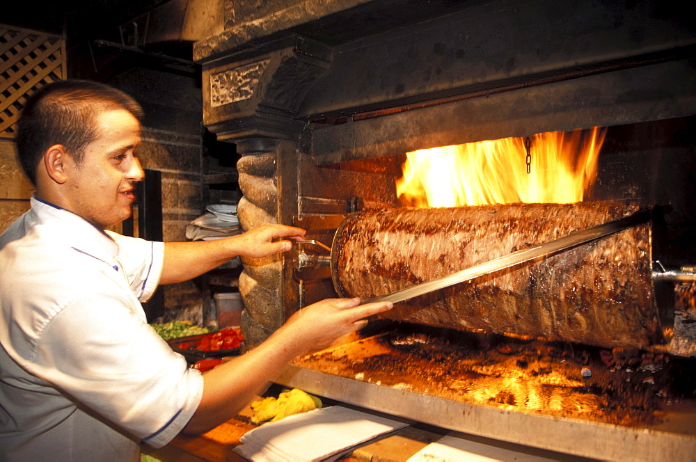 Oven with Kebap at the restaurant, Bodrum, Turkey