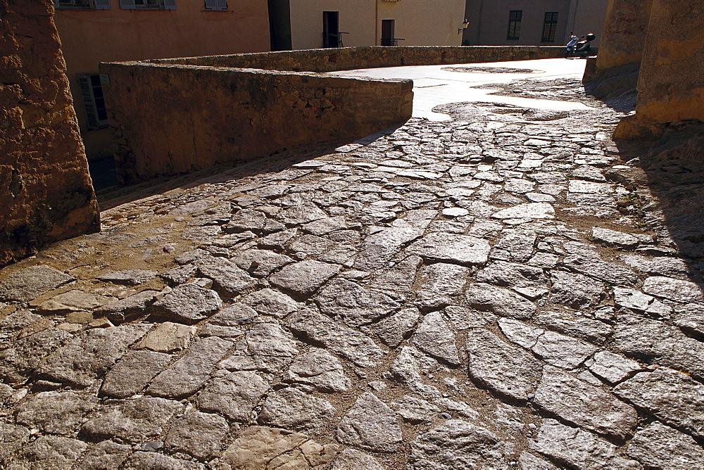 Pavement, Old Alley, Calvi Corsica, France