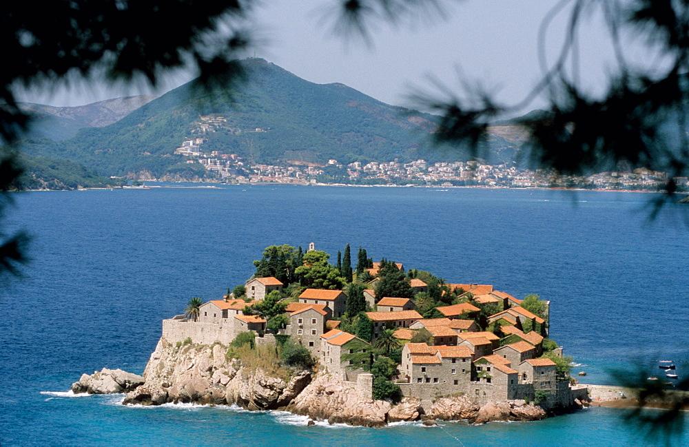 Sveti Stefan near Budva, Montenegro