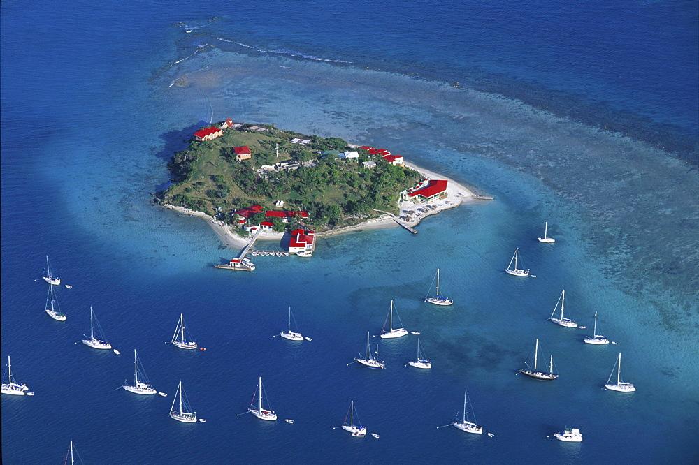 Aerial view of Tortola, British Virgin Islands, Carribean
