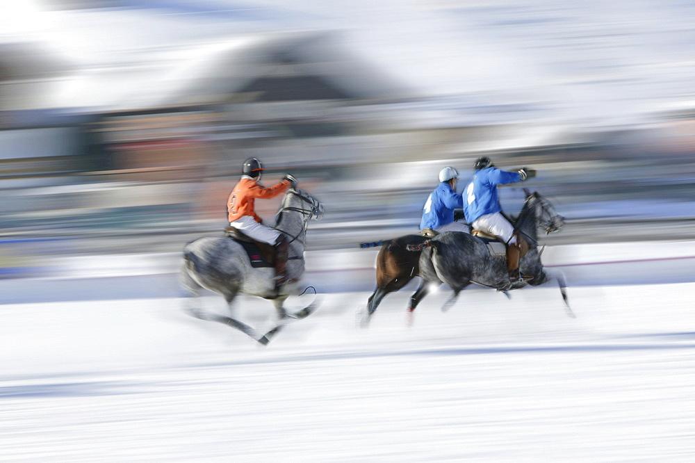 Polo on snow, International tournament in Livigno, Italy