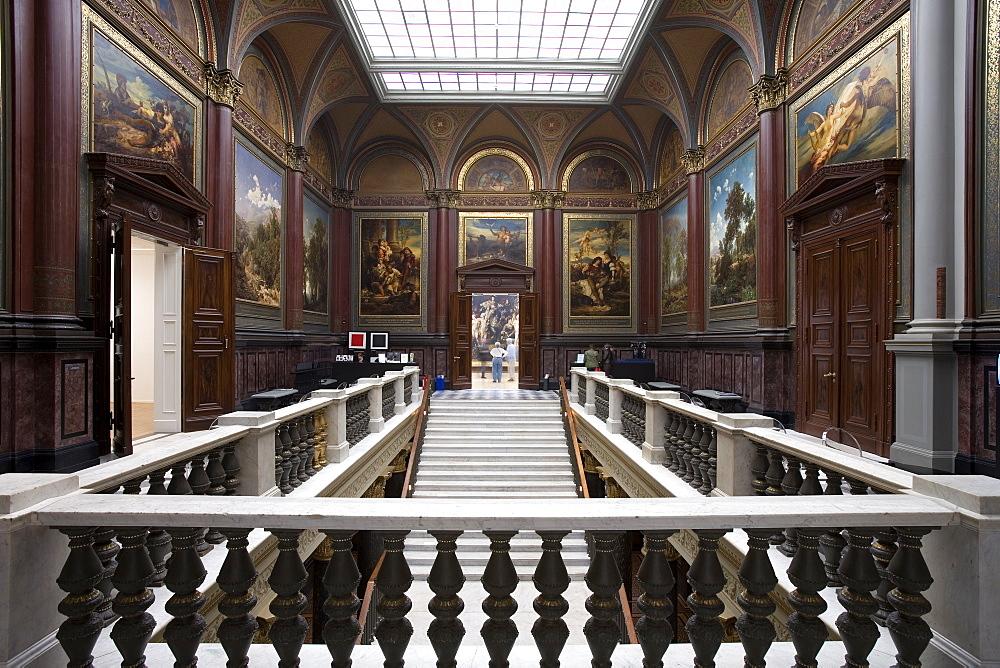 Staircase in the Hamburger Kunsthalle, Hanseatic city of Hamburg, Germany, Europe