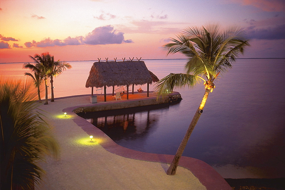 Shack at the sea, holiday resort, Key Largo, Florida, USA