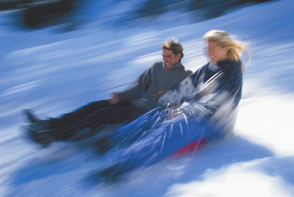 Couple sledging